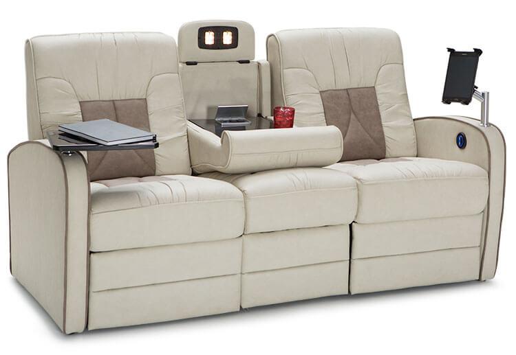 Qualitex De Leon Rv Double Recliner Sofa Rv Furniture