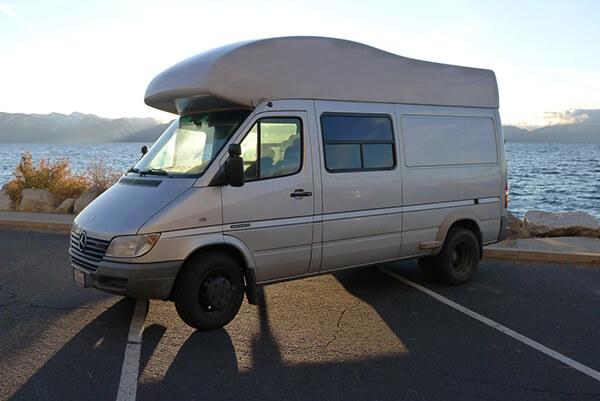 Fiberglass Camper Tops : Sprinter van california capmper fiberglass top