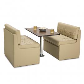 Premium 27 Dinette Post Modern Elegant RV Dinette Stand Surface Mount RV Dinette Booth Table Leg