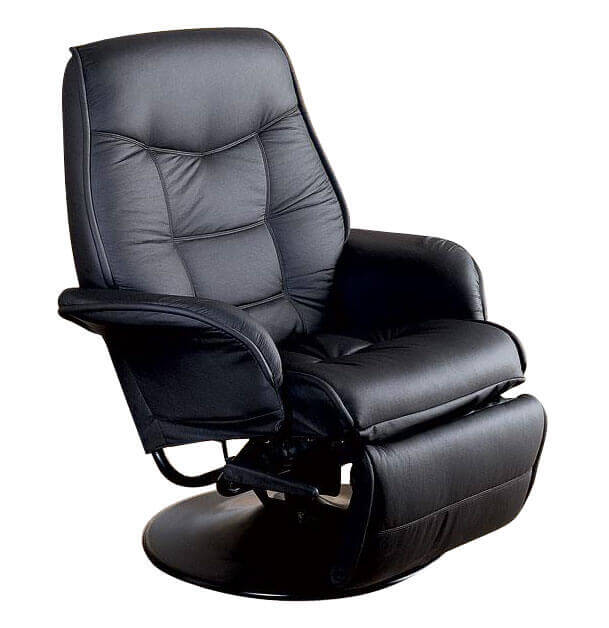 Saturn RV Euro Recliner in Black Frompo