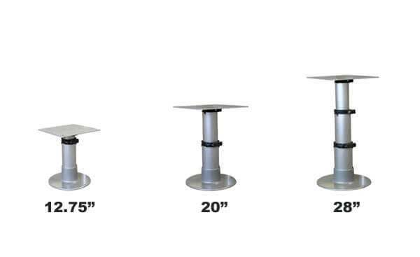 Springfield Gas Powered Table Pedestal Rv Dinette Hardware Rv Dinettes Rv Furniture