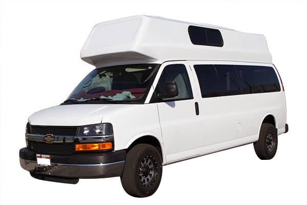 Fiberglass Camper Tops : Ford van fiberglass top