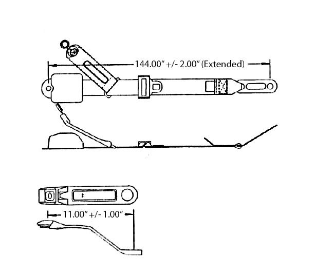 3 Pt  Retractable Seat Belt 8