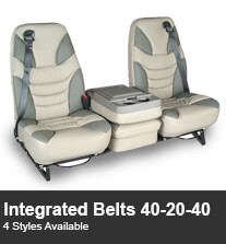 Integrated Seatbelts 40-20-40 Truck Seating