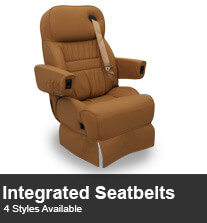 RV Integrated Seatbelt Captain Chairs
