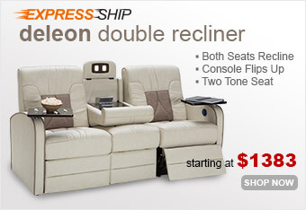 The De Leon RV Double Recliner is part of the instock RV Furniture Express Ship Program