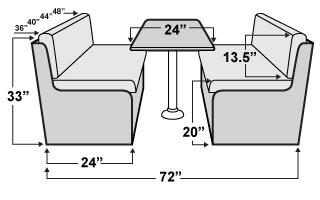 Qualitex Bedford Rv Dinette Set