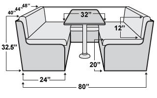 Rv Dinette Bed Size