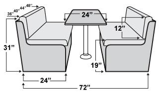 Qualitex Windsor Rv Dinette Set Rv Furniture Shop4seats Com